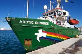 Arctic Sunrise Greenpeace drying solution