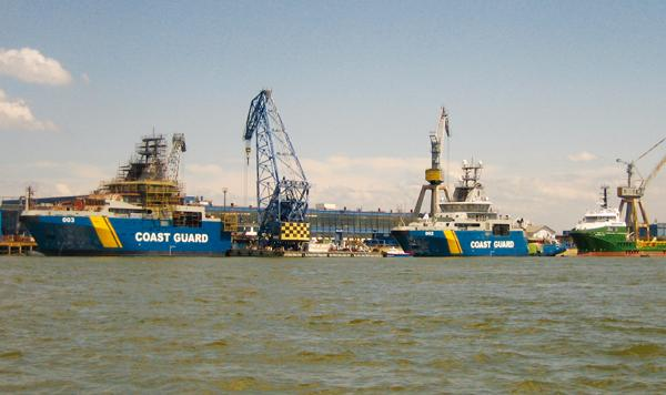 Swedish Coast Guard drying system