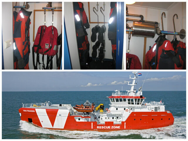 Vroon Standby Vessels suit and boot dryer