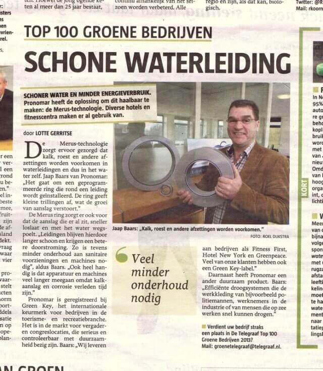 Interview Telegraaf Merus Top Green Companies