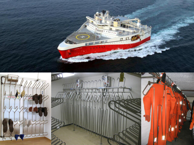 PGS Norway Ramform Titan and Titam Atlas drying systems