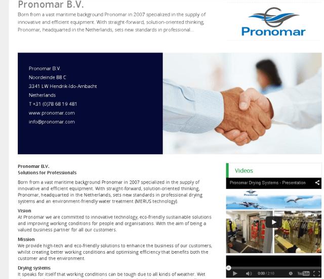 Pronomar Company Profile Offshore Energy Today
