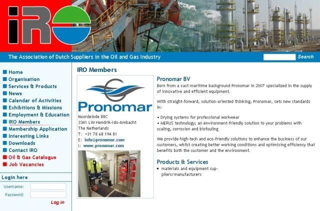 Pronomar Becomes Member of the IRO