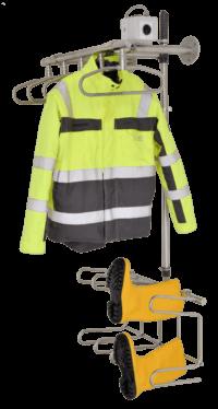 sistema de secado para chaquetas de trabajo y botas de goma