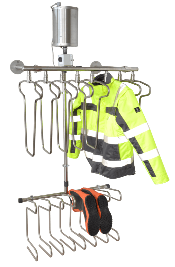 high-performance drying equipment for work jackets and boots or gloves