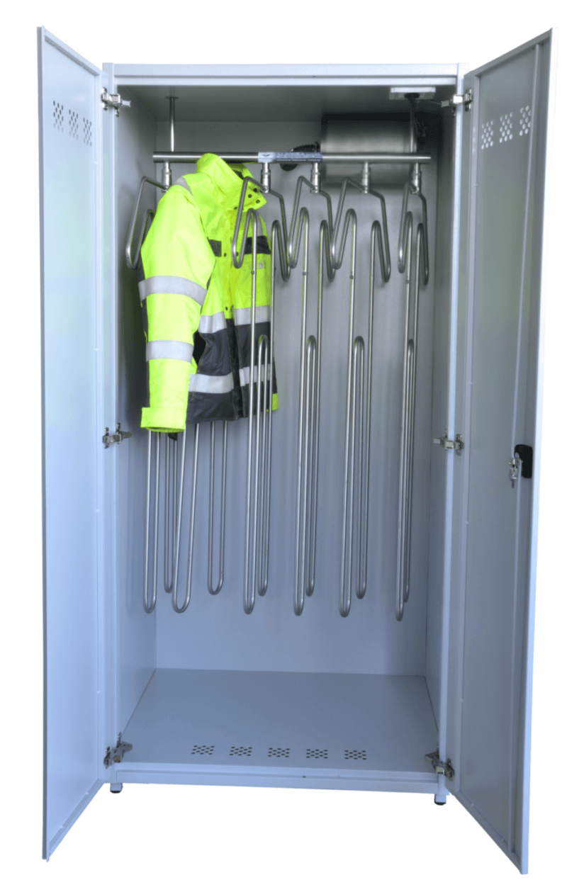 robust drying cabinet for work coveralls and suits