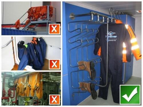 droogsystemen voor een nette en schone kleedkamer en efficiënte droging van werkkleding