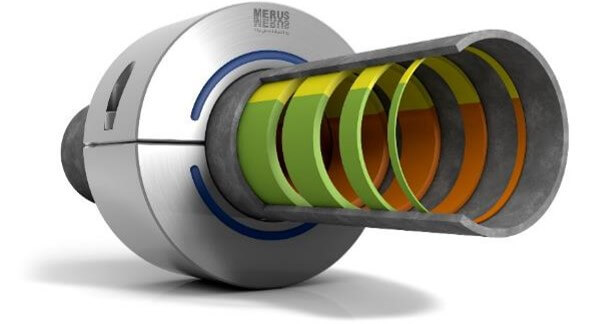 Merus ring to fight problems with corrosion, scaling, bio fouling and hydrocarbons