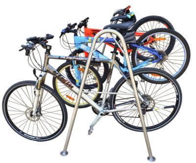 estante profesional para colocar bicicletas