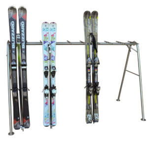 estante almacenamiento robusto para esquís