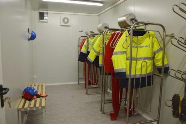 contenedor de secado para trajes pesados