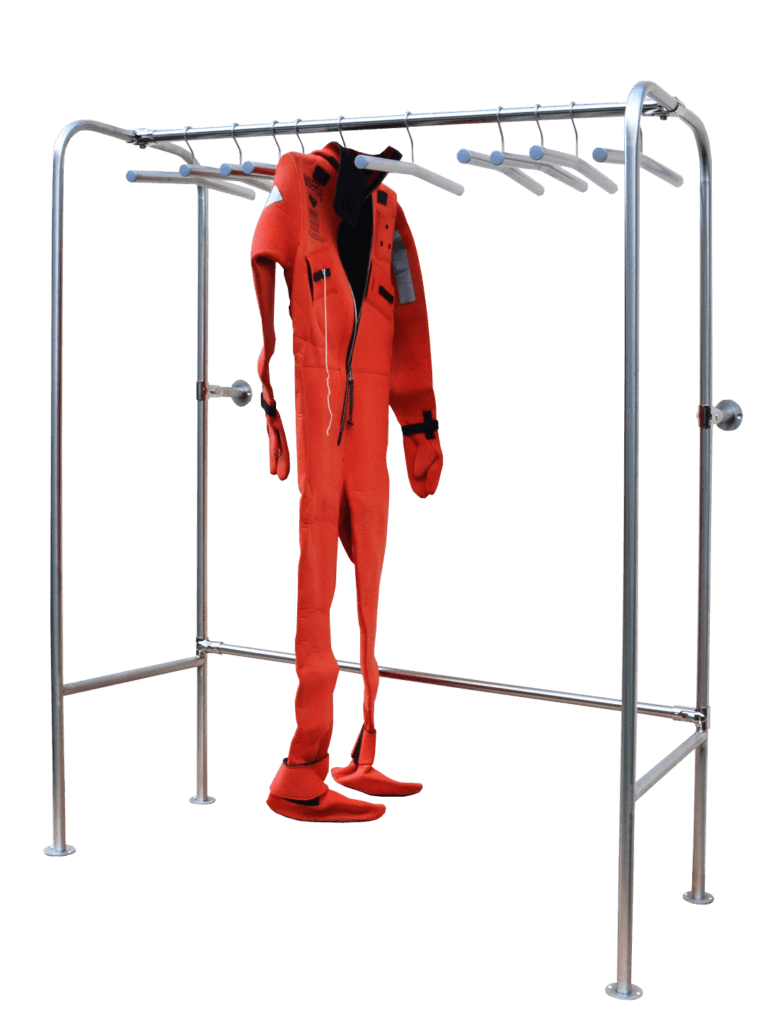 stainless steel storage rack for suits
