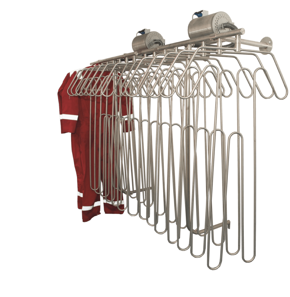 on-board wall-mounted coverall dryers for onshore and offshore use
