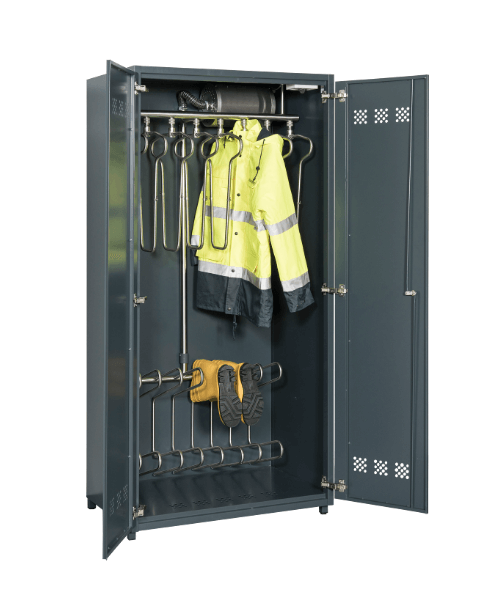 combo drying cabinet for boots and jackets
