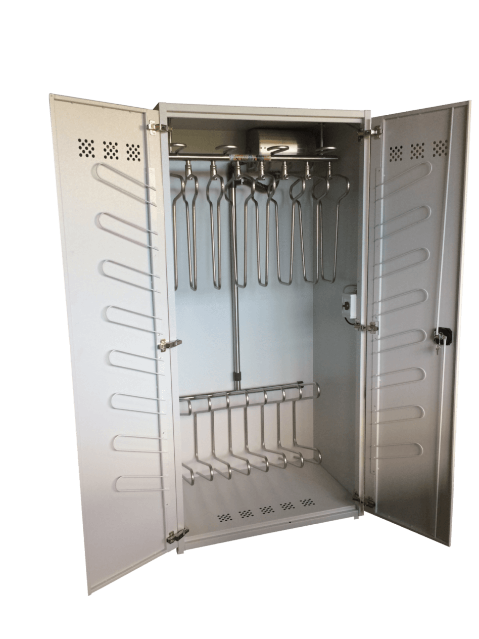 powerful robust drying cabinet for boiler suits and coveralls