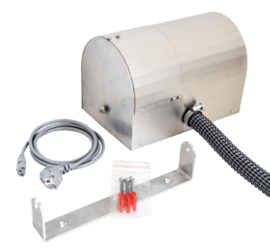 warm-air blower for quick drying of workwear