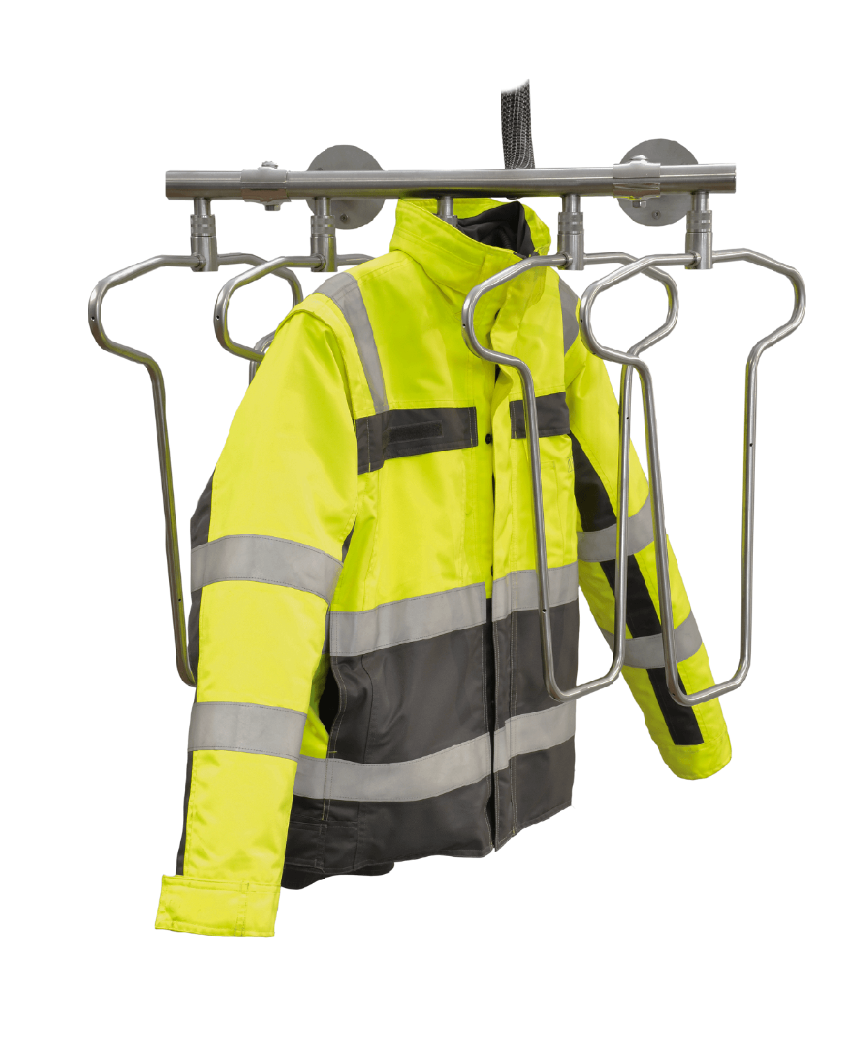 warm air drying system for work jackets