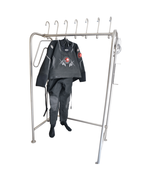 drying system for diving suits, dry suits, wet suits