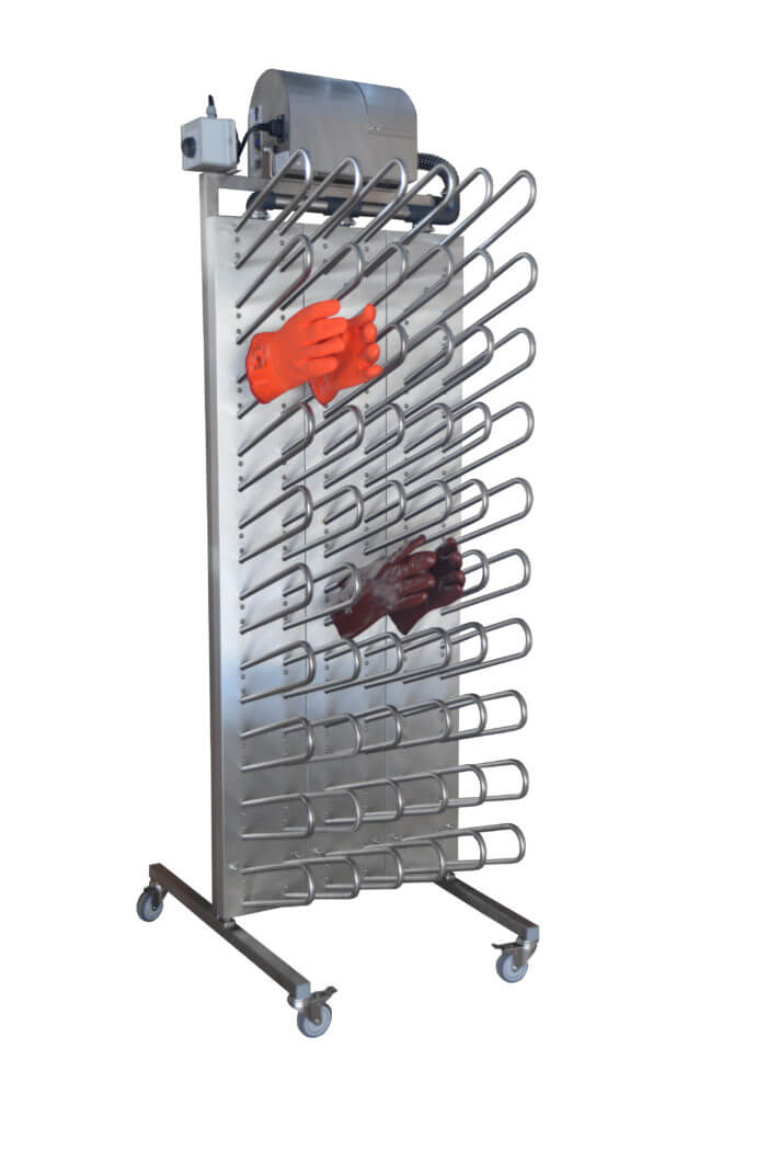 mobile drying rack to dry gloves