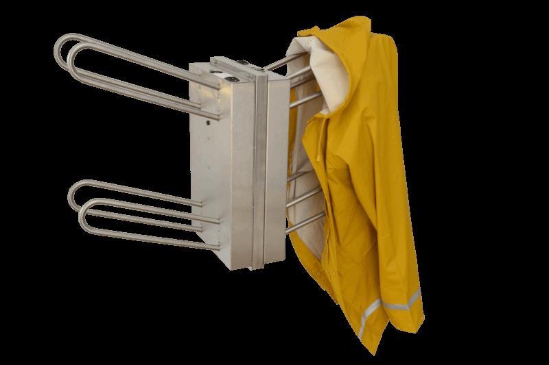 secador compacto de acero inoxidable para ropa de pesca