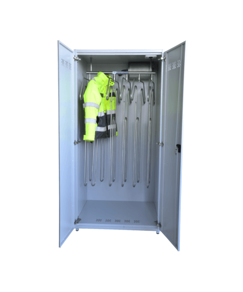 drying cabinet for coveralls jackets suits