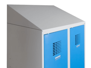 drying lockers with slanted roof