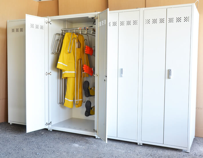Drying cabinets for suits gloves and boots