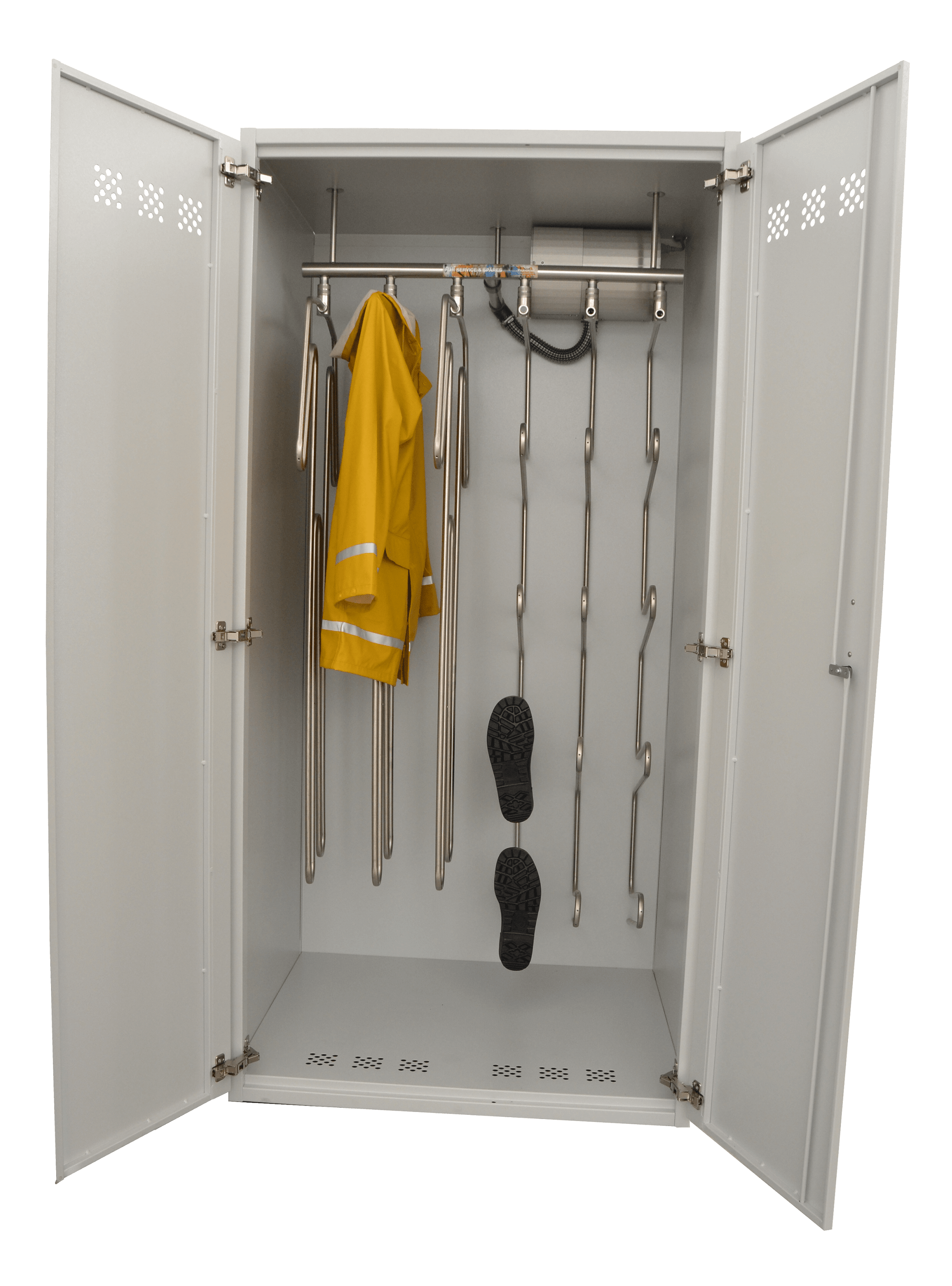 drying cabinet for jackets and boots with warm air