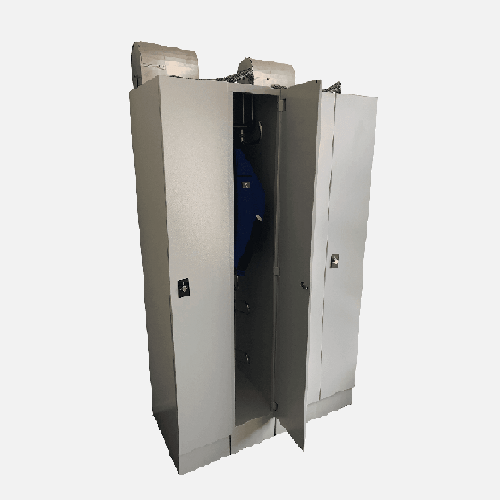 drying lockers for wet workwear