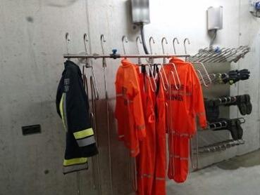 drying room equipment for firefighting station