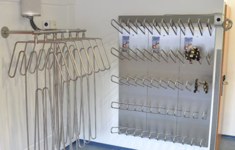 drying equipment cold stores for suits and gloves